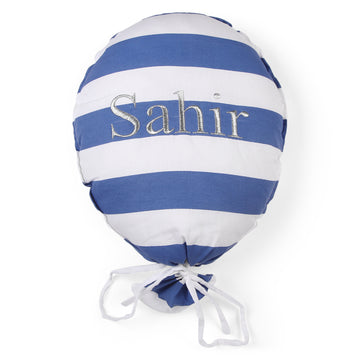 Personalised Balloon Blue Striped