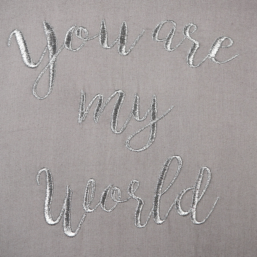 You Are My World Balloon Grey