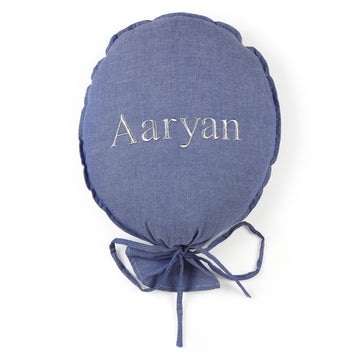 Personalised Balloon Chambray Blue