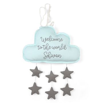 Personalised Blue Cloud With Stars