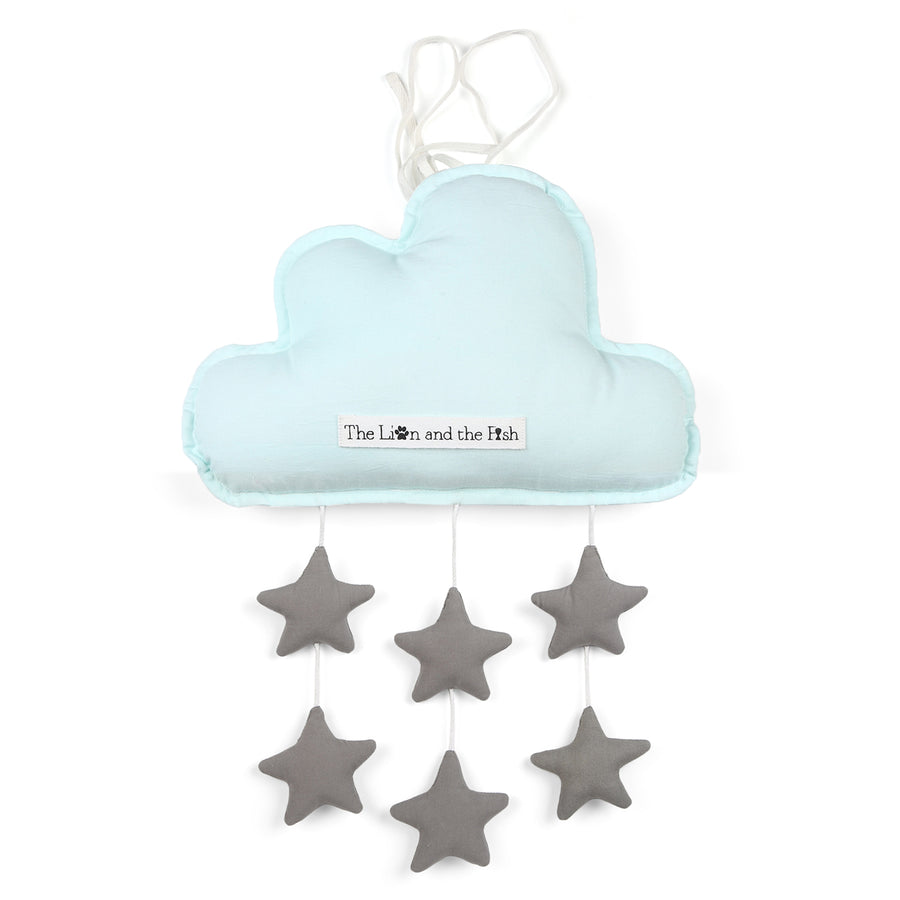 Personalized Blue Cloud With Stars