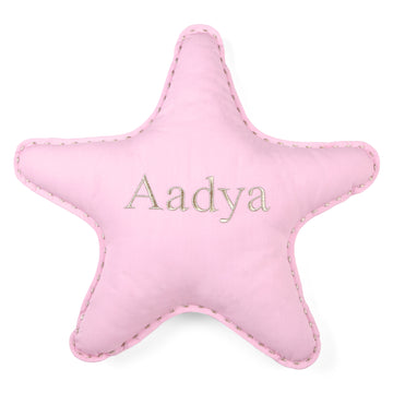 Personalised Star Pillow Pink