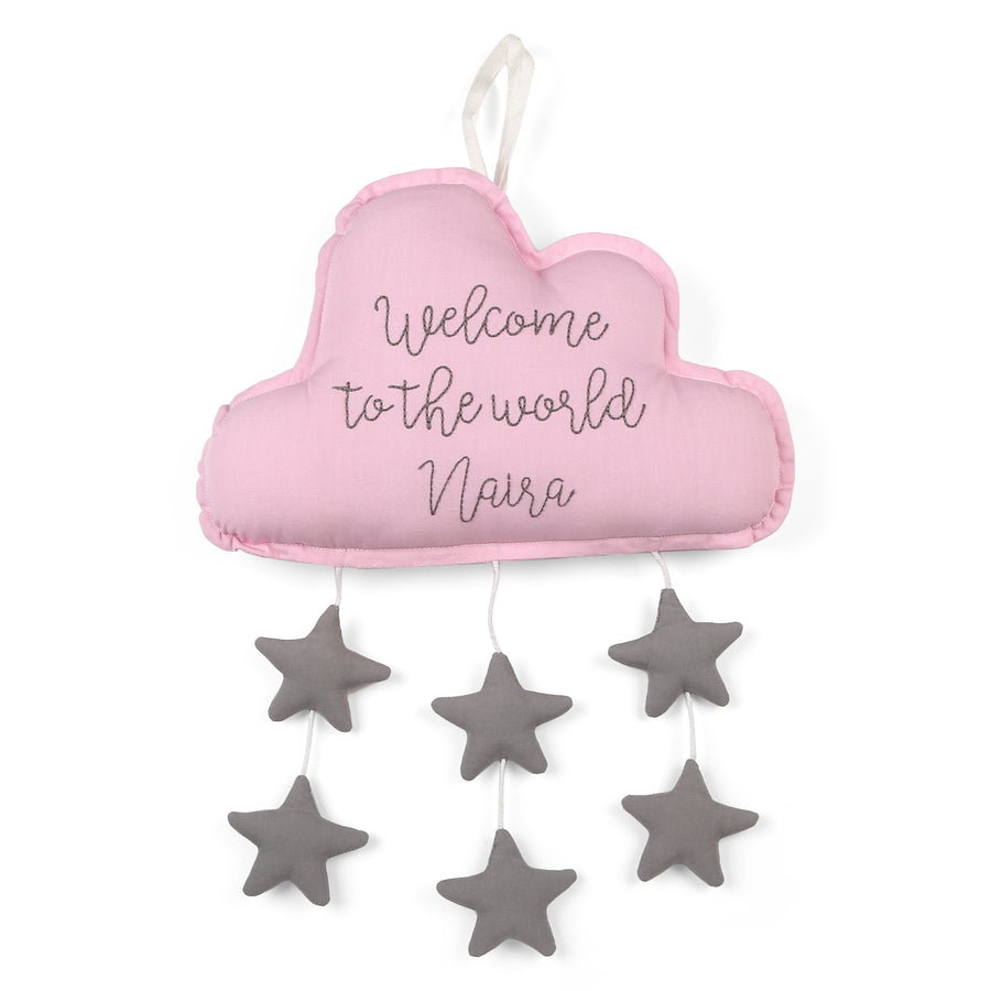 Personalized Pink Cloud with Stars