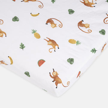 Mama's Monkey Fitted Cot Sheet 2