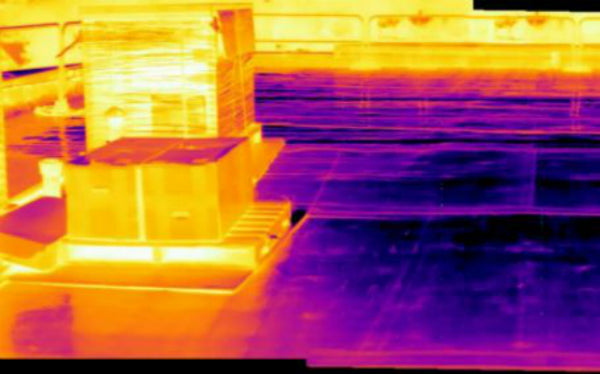 Infrared scan of the roof