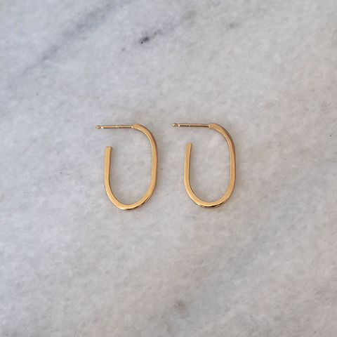 14K Link Hoops Earring Medium