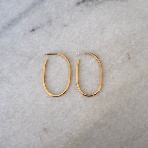 Link Hoops Earring Large Goldplated
