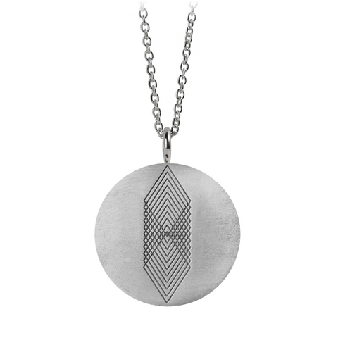 Graphic Necklace Square Silver