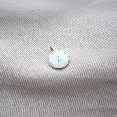 Letter Coin Classic Small Silver