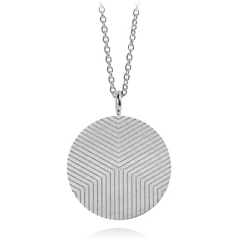 Graphic Necklace Lines Silver