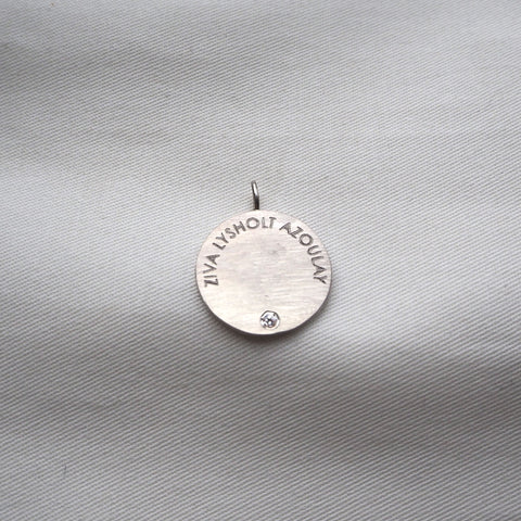 Name Coin Classic Zirconia Silver