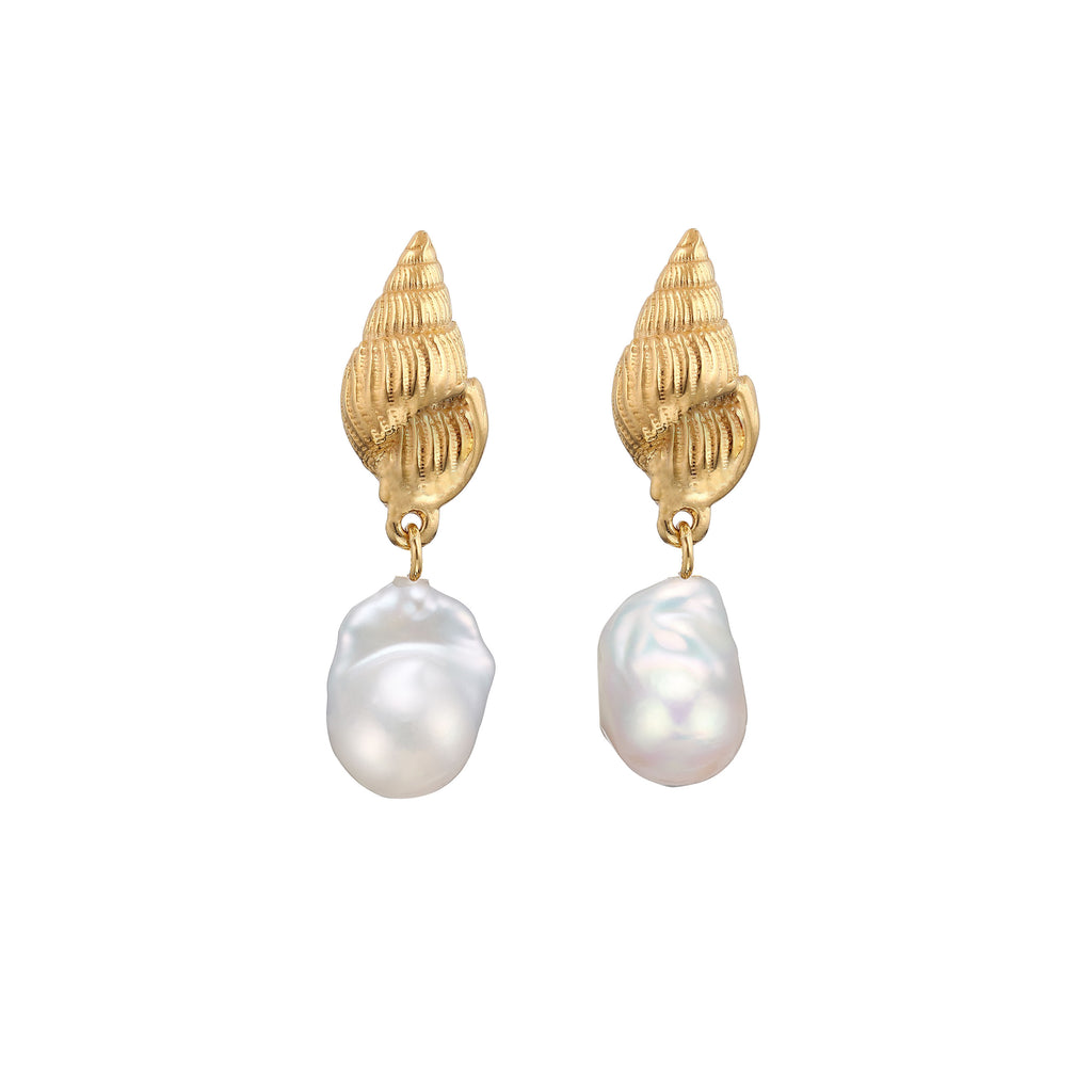 Aviva Pearls Earrings Gold