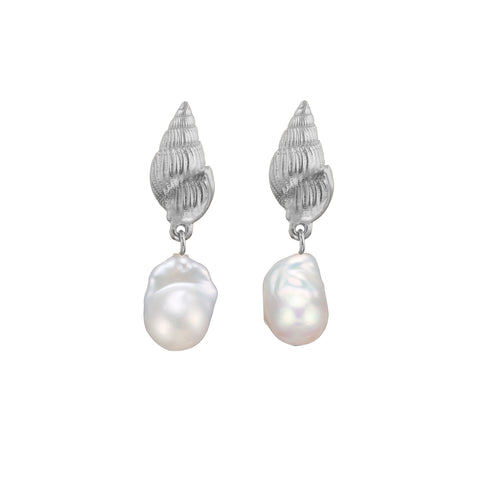 Aviva Pearls Earrings Silver