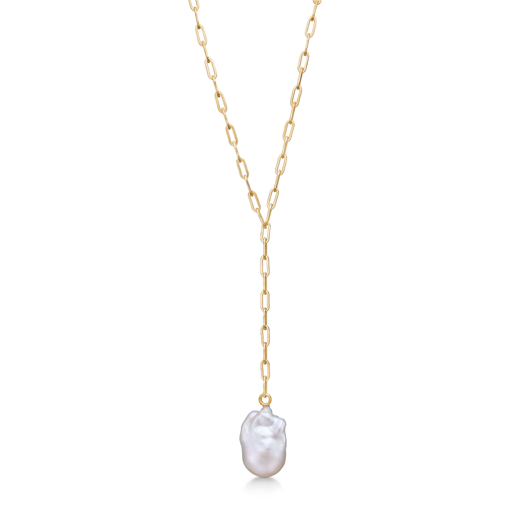 Baroque Necklace Pearl Gold