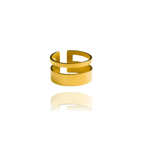 Graphic Ring Clean Gold
