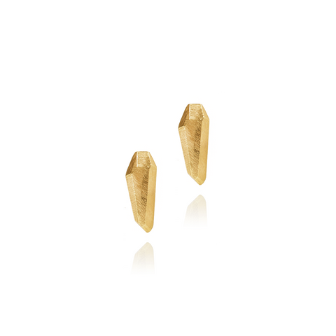 Diamond Toooth Earstuds Large Gold