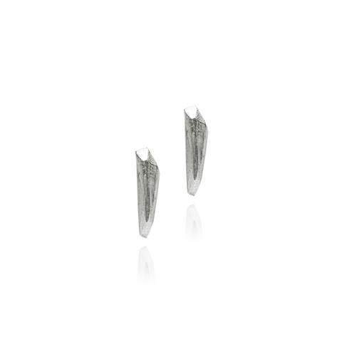 Diamond Tooth Earstuds Small Silver