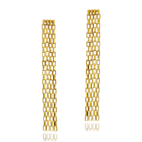 Link Chain Earrings Goldplated