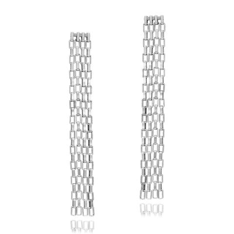 Link Chain Earrings Silver