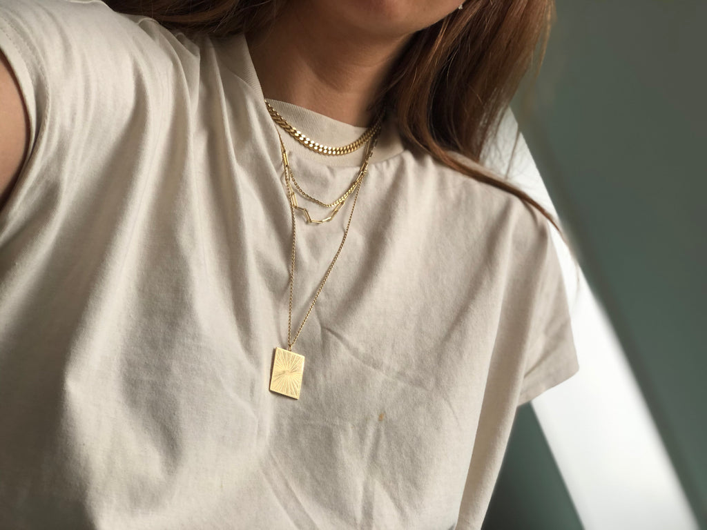 Lumen Necklace Large Goldplated