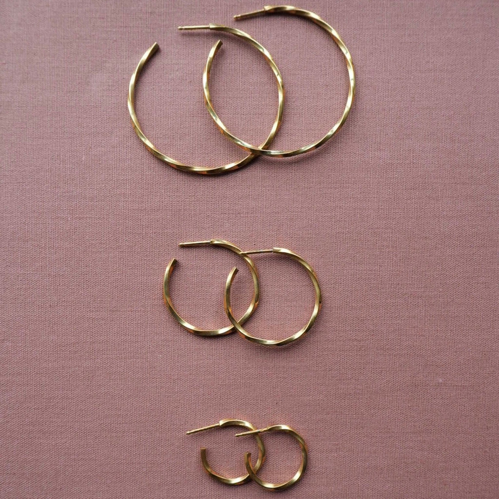 Waves Hoops Goldplated