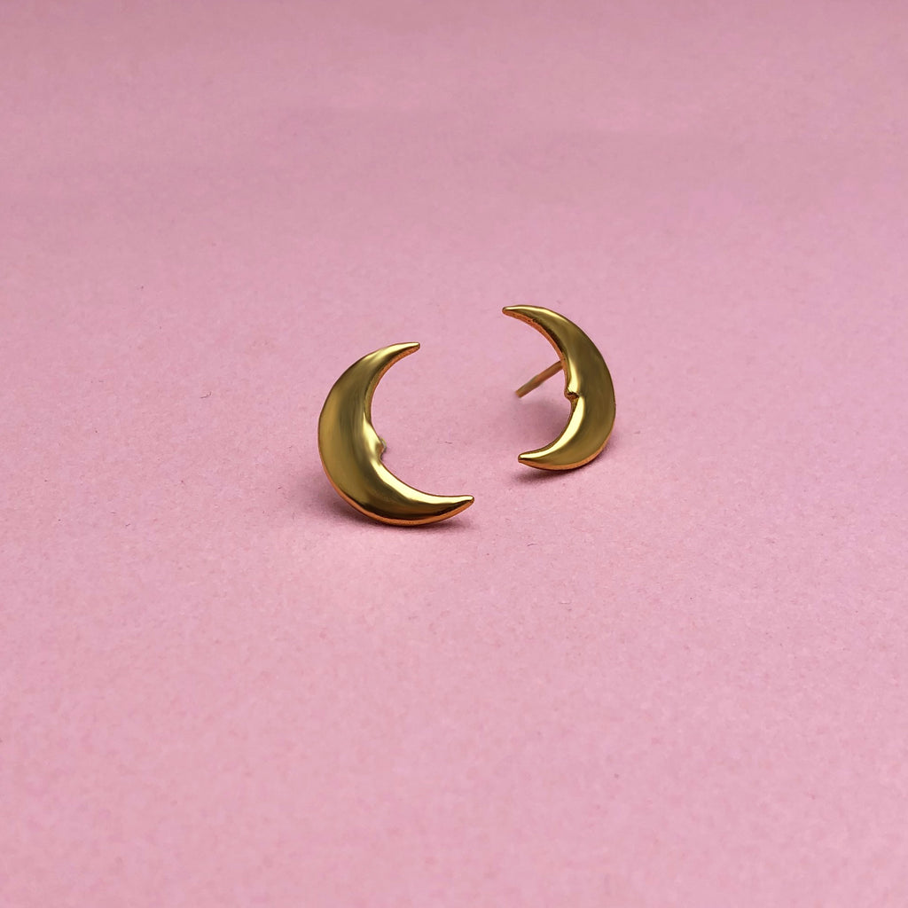 Hera Moon Earrings Gold