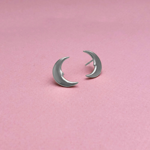 Hera Moon Earrings Silver