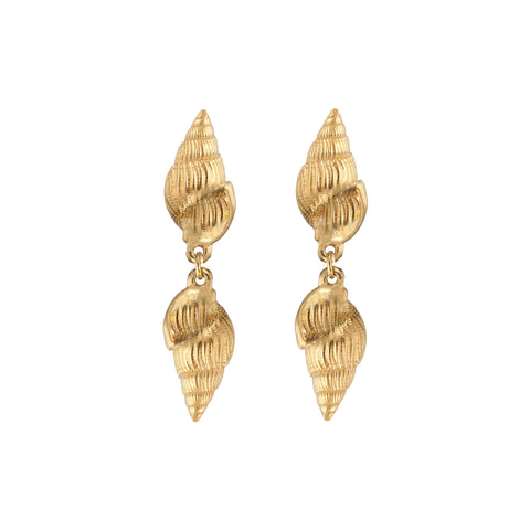 Aviva Shell Earrings Gold