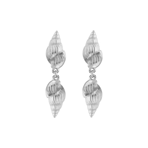 Aviva Shell Earrings Silver