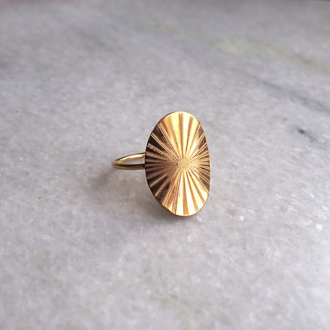 Lumen Ring Goldplated