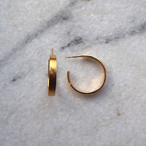 Lumen Hoops Goldplated