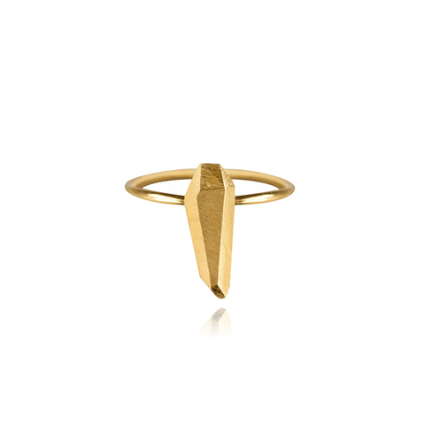 Diamond Tooth Ring Large Gold