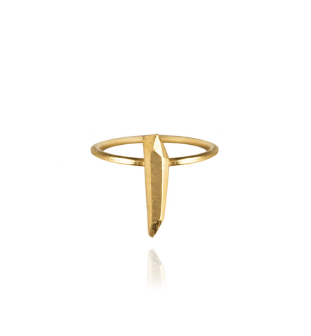Diamond Tooth Ring Small Gold