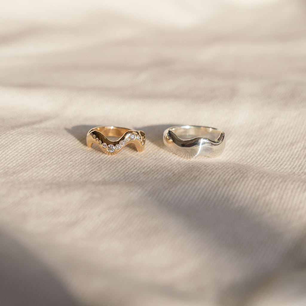 Santina Diamond Gold Ring