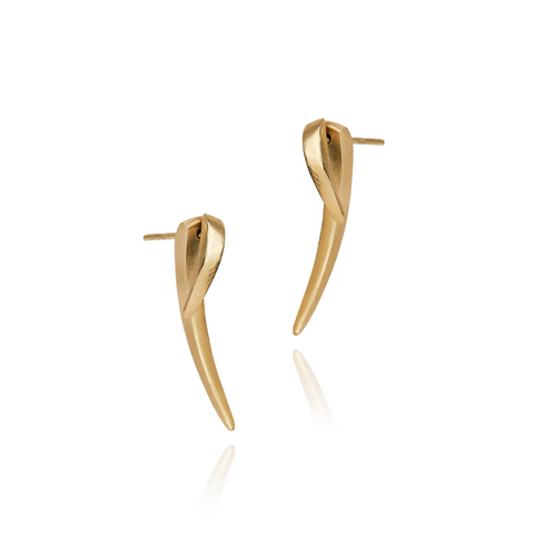 Tusk Earring Large Gold