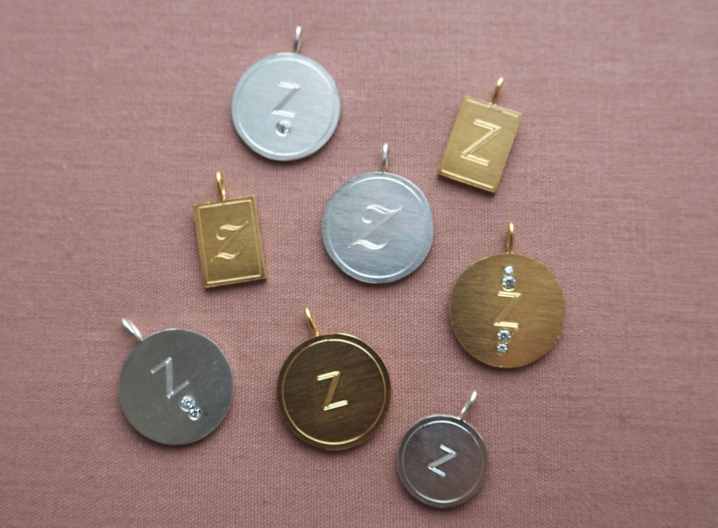 Letter Tag Small Silver