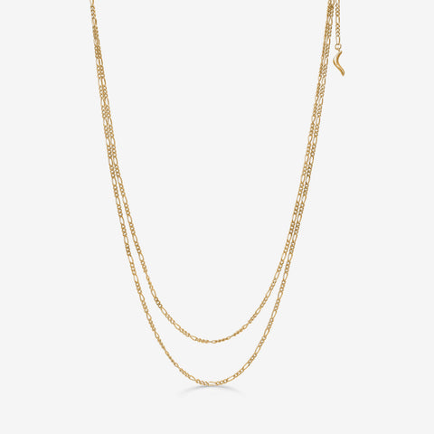 SANTINA Double Necklace Gold