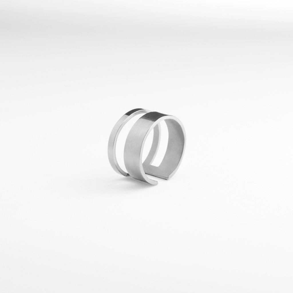 Graphic Ring Clean Silver