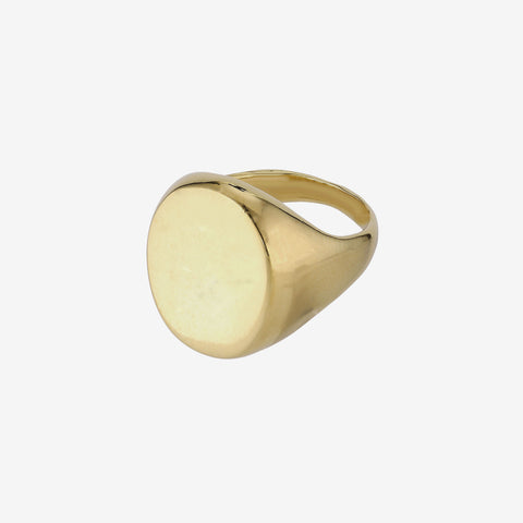 Oval Big Signet Ring Goldplated