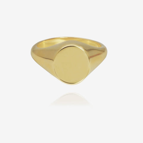Oval Signet Ring Goldplated