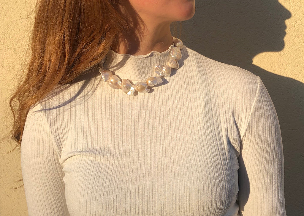 Baroque Statement Pearl Necklace
