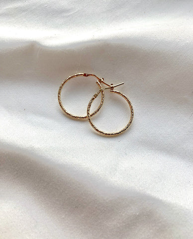 Sparkle Hoops Goldplated
