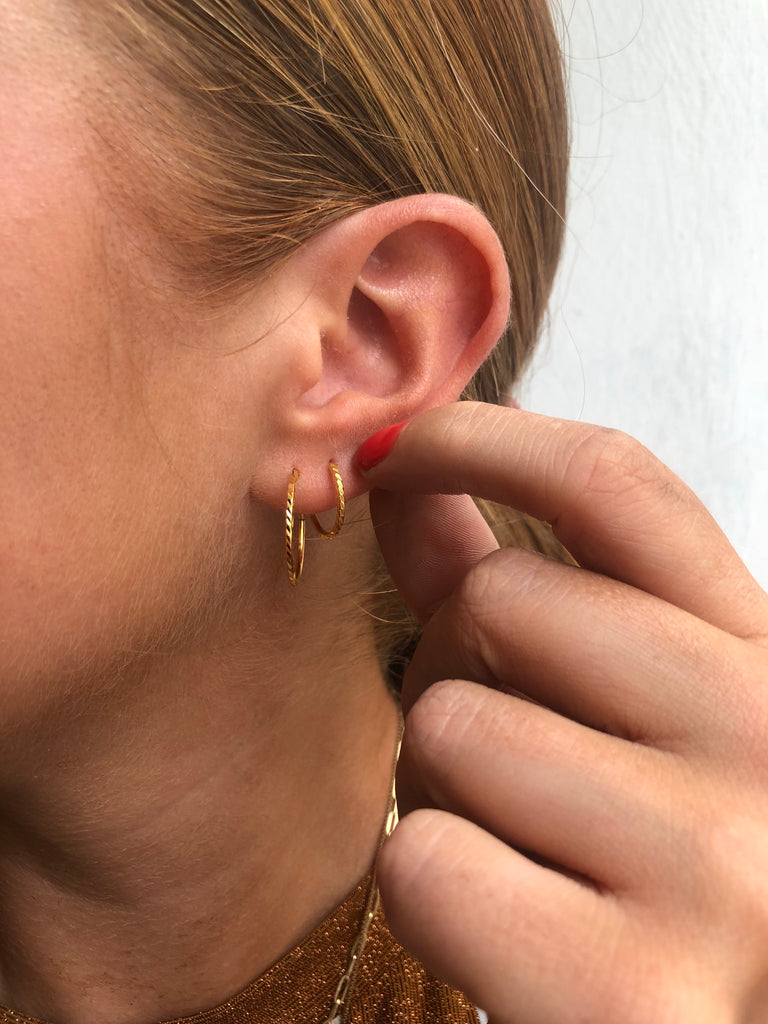 Facet Hoops Goldplated