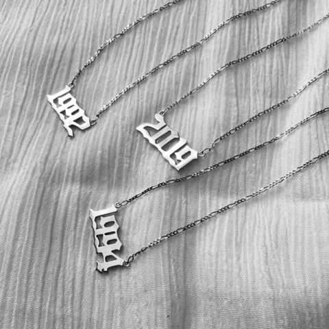 Year Necklace Silver