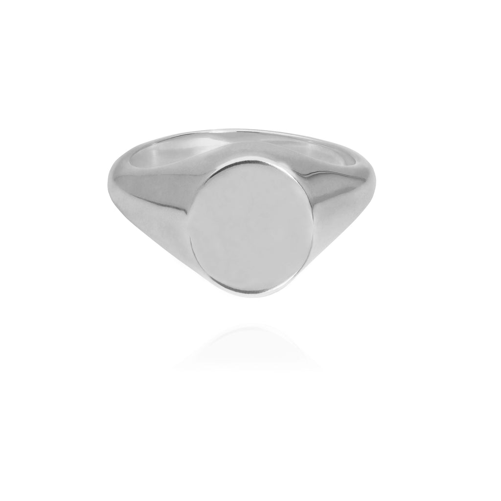 Oval Signet Ring Silver