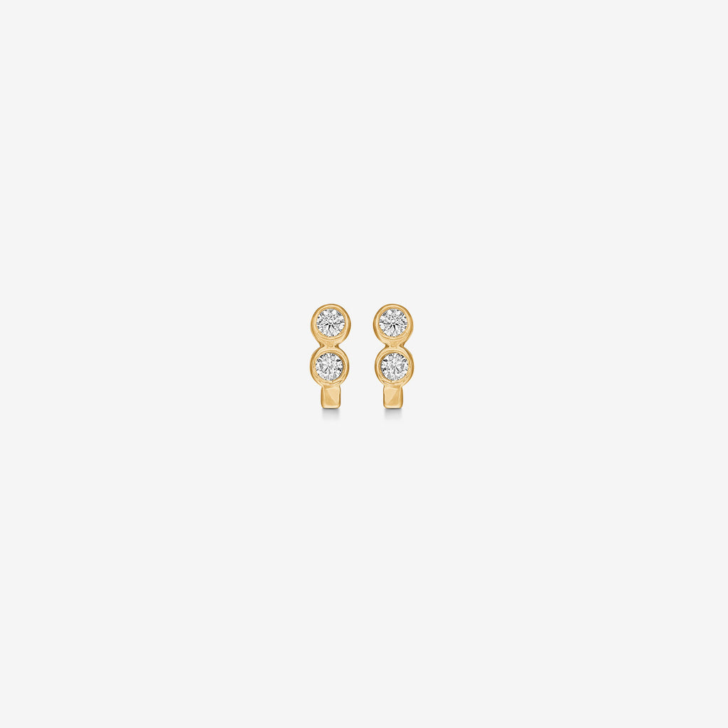 Petit Double Zirconia Gold