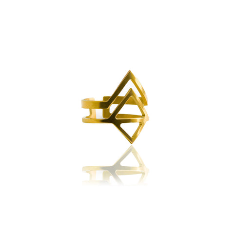 Graphic Ring Arrow Gold