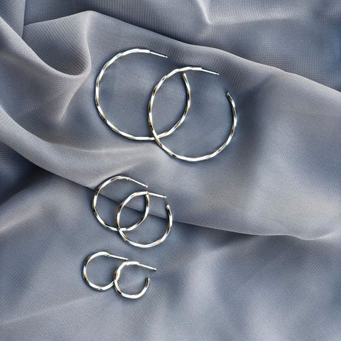 Waves Hoops Silver