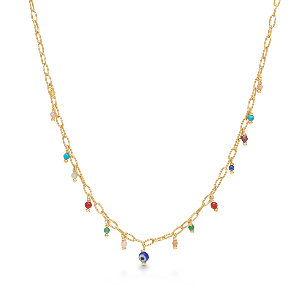 Bali Charm Necklace Gold