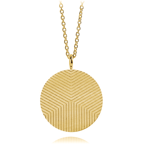 Graphic Necklace Lines Gold